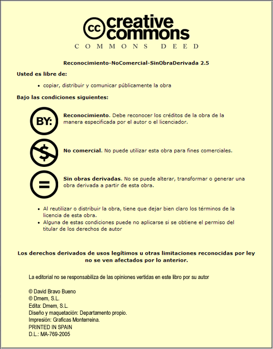 "Condiciones de licencia Creative Commons ""BY-NC-ND"""